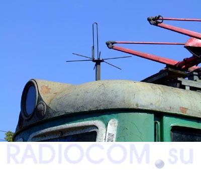 Устаревшая электровозная антенна