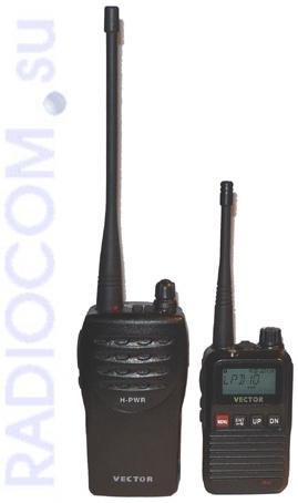 Вектор VT-43 R2 переносная рация вместе со старшей моделью